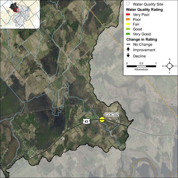 Figure 1 Water quality monitoring site on Black Creek