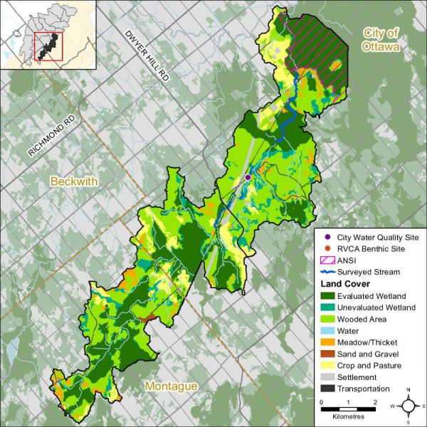 Figure 1 Land cover in the Nichols Creek catchment