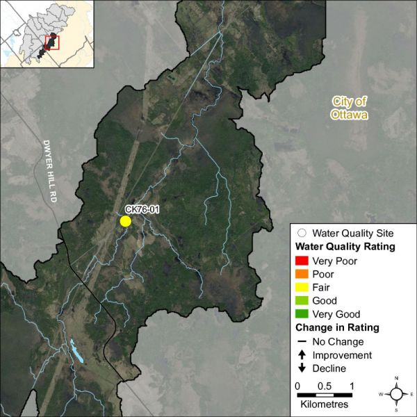 Figure 1 Water quality monitoring site in the Nichols Creek catchment