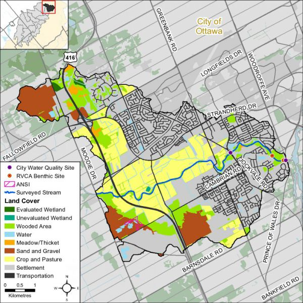 Figure 1 Land cover in the Barrhaven catchment