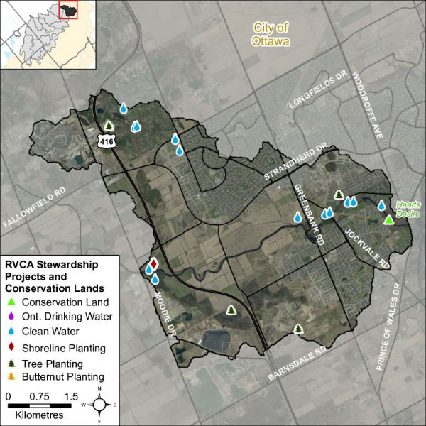 Figure xx Stewardship and potential restoration locations