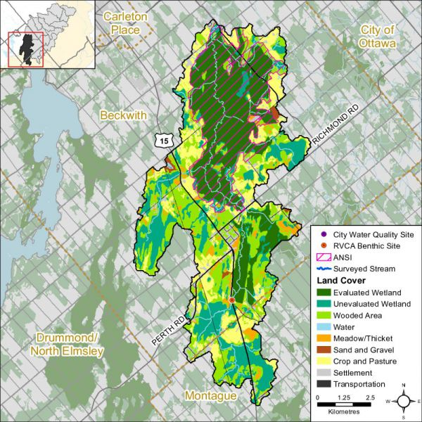 Figure 1 Land cover in the Jock River - Franktown catchment