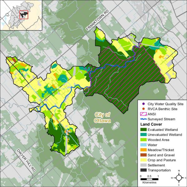 Figure 1 Land cover in the Jock River - Richmond Fen catchment