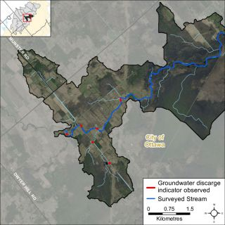 Figure XX Groundwater indicators observed in the Jock River Richmond Fen catchment