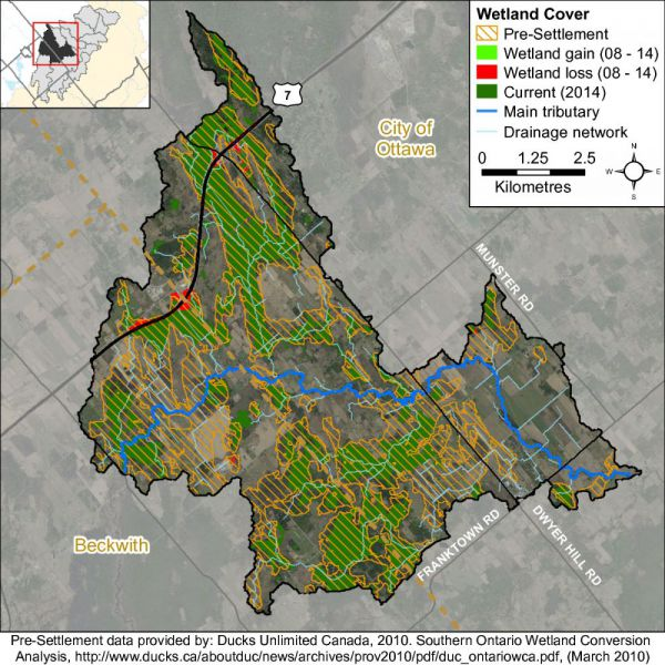 Figure xx  Ashton-Dwyer Hill catchment wetland cover