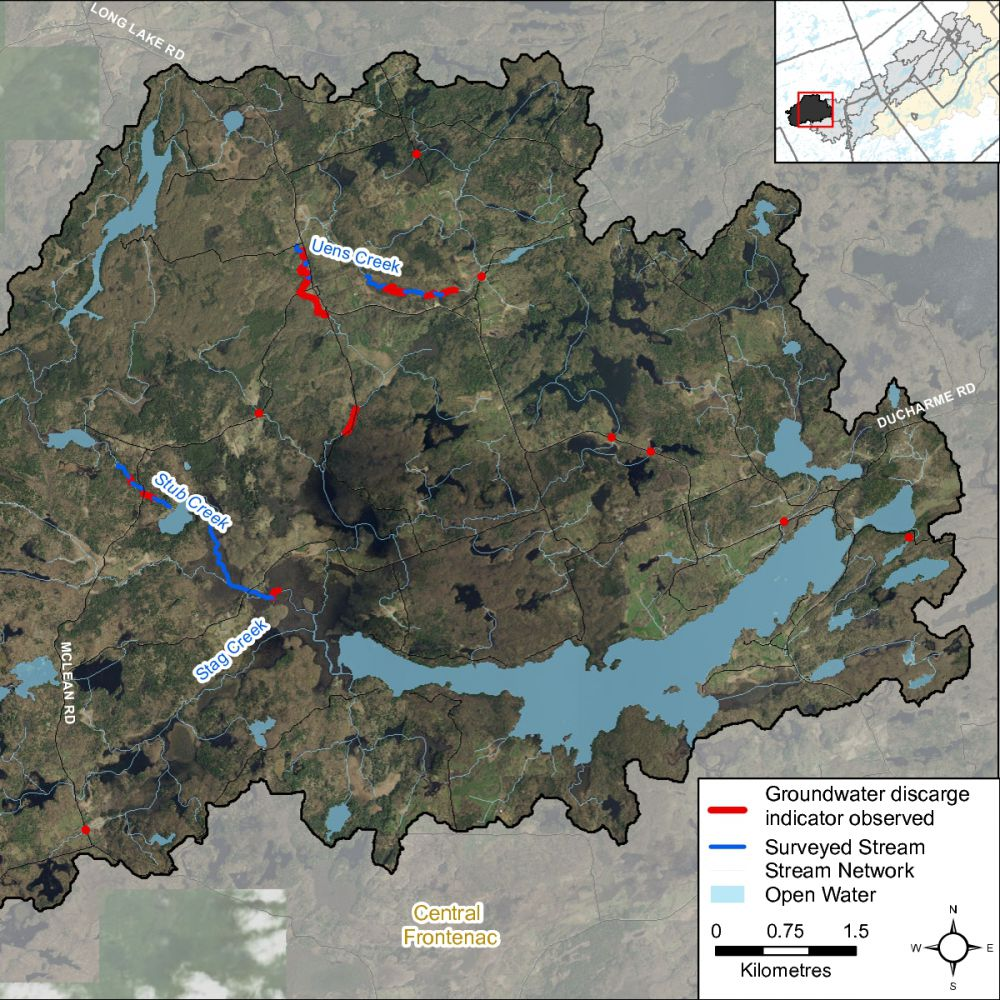 Figure XX Groundwater indicators observed in the Long Lake catchment