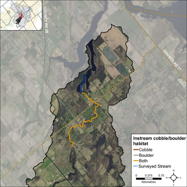 Figure 29 Instream substrate along Hutton Creek