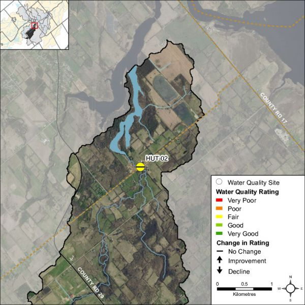Figure 1 Water quality monitoring site on Hutton Creek