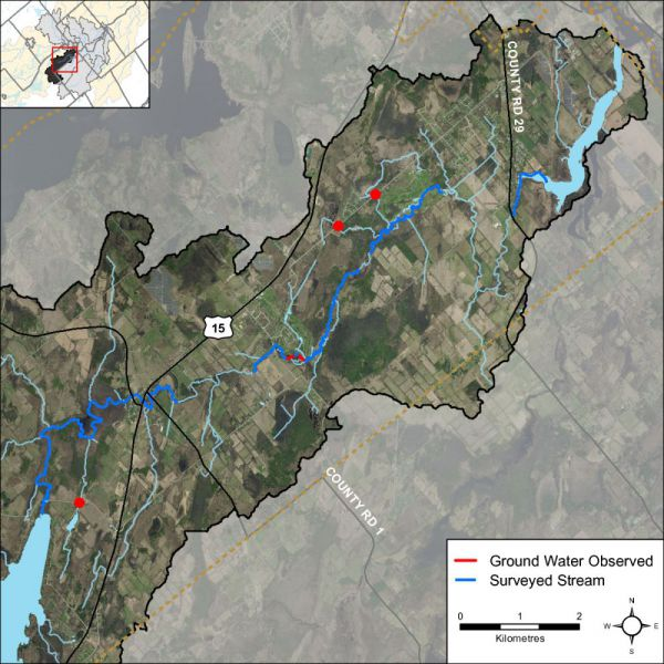 Figure XX Groundwater indicator observations in the Otter Creek catchment