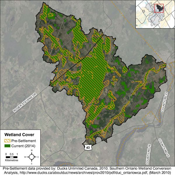 Figure 35 Catchment wetland cover
