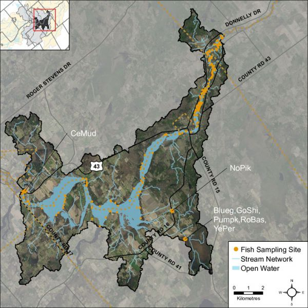 Figure 22 Rideau – Merrickville fish sampling locations