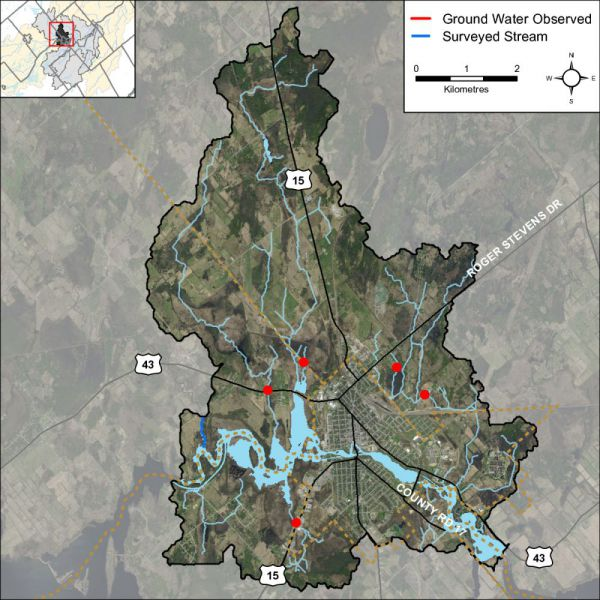 Figure 2 Groundwater indicators observed in the Rideau – Smiths Falls catchment