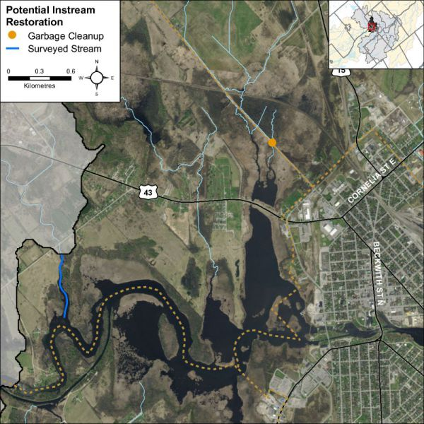 Figure 12 Instream restoration opportunities along Rideau - Smiths Falls
