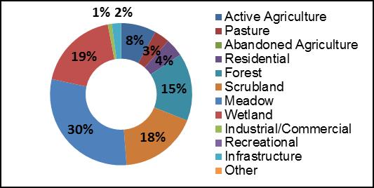 Figure 17 Land Use along Rosedale Creek
